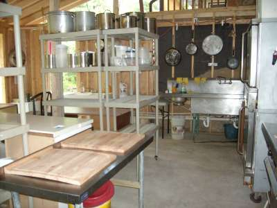 Outdoor Commercial Kitchen Abram S Creek Retreat And